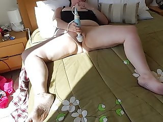 Tit slapping masturbating BBW slut