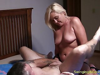Hubby FUCKED with STRAP-ON