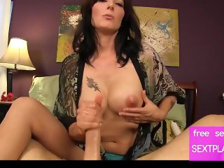 SUPER HOT  STEP MOM GIVES SON A HAND