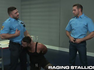Daddy Hunk Colleagues Find Perv At Work & Take Turns On Him