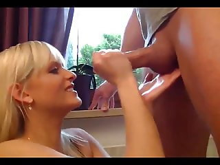 German Babe Takes Cumshot In Mouth after Painful Anal Fuck