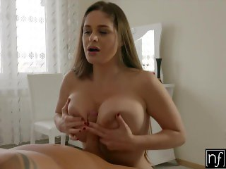 NF Busty - Using BigTits And Tongue To Make Her Man Cum S5:E7