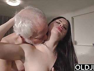 Teen mouth fucked hardcore takes cock deepthroat and gags
