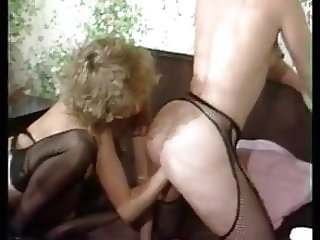Hairy 80s Lesbians Fisting and Pissing Group Sex