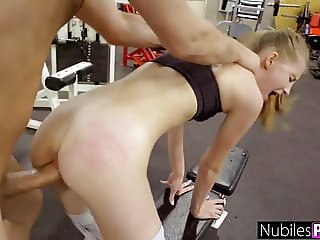 Cute Nympho Begs For Cock At The Gym! - Gym Selfie S16:E10