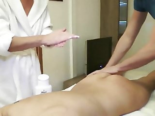 Nice massage with 2 milfs
