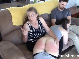 Naughty Sisters spanked