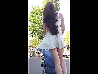 Upskirt at the street 17