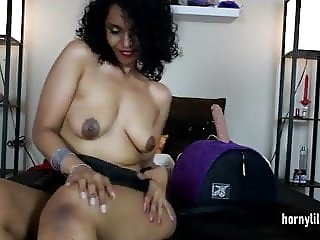South Indian Riding Her Big Dildo With Her Big Ass