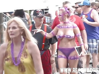 Fantasy Fest Street Flashing Sluts 2