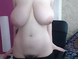 PERFECT SAGGY TITS CUTIE SHOWS HER BUSH
