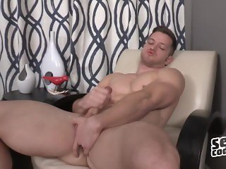 Deacon plays with his big cock solo - Sean Cody