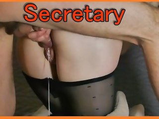 SECRETARY IS FUCKED BY BOSS WITH HUGE CREAMPIE