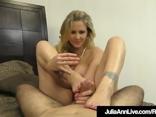 Amazing Milf Julia Ann Jacks A Cock Into Her Mouth & Hands!