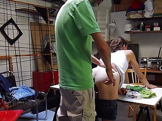 Fuck and creampie in shorts