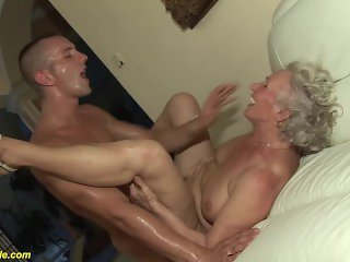 granny in her first porn video