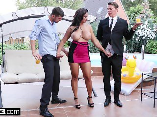 Chloe Lamoure Has Giant Tits And A Craving For Two Dicks!
