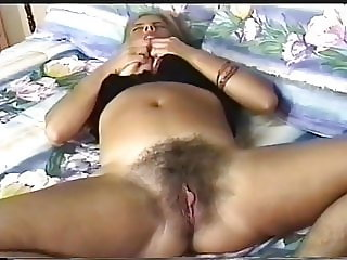 Mature playig with herself