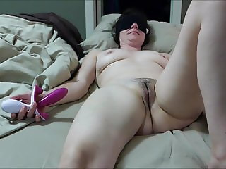 cumming on wifes tits while she masturbates with vibrator