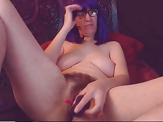 Mature Celeste Having Orgasms In Her Hairy Pussy