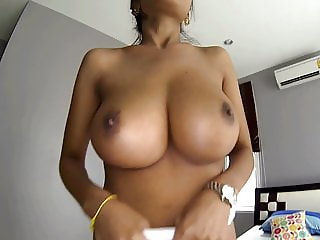 Suck my big natural tits before you fuck me