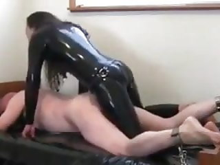 Mistress fucks slave hard