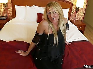 Tight Ass Blonde MOM POV First Time Anal Fucking on Camera