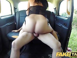 Fake Taxi Sexy ass chick with pierced shaven pussy