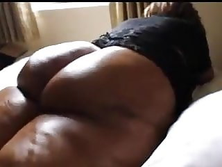 Juicy Ebony Granny Cellulite Booty Getting Fucked