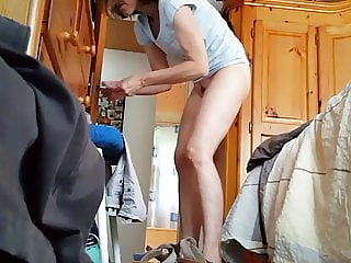 Wife strips