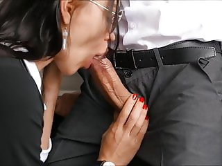 Horny Young Secretary Fucks In Anal, Pussy And Mouth