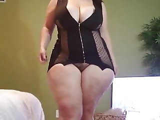 Bbw trys on lingerie