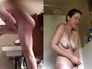 Hidden cam - Someone's wife exposed in the shower