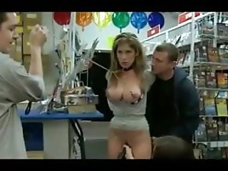 Slut Gets Used in a Public Video Store