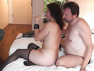 Hotwife Sara with her Bull, Hubby cleans her later