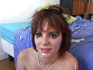 Cum Spunked Cutie Takes Ass To Mouth!