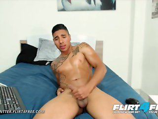 Jake Wintter on Flirt4Free - Sexy Hispanic Boy Next Door Spreads His Ass