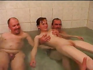 STP7 Daddys Girl Wanted To Bathe But He Brought Pervs Home !