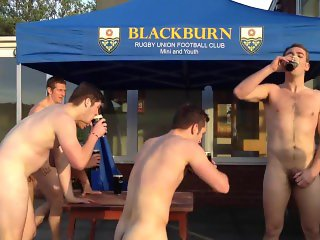 Rugby Guys Naked Run and Drink
