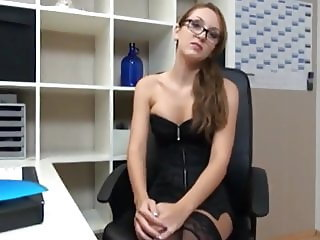 Sexy Secretary Gets Amazing Creampie From her New Boss