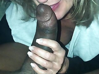 Mature interracial Blowjob