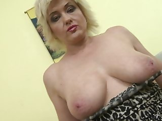 Mother with amazing natural tits and wet cunt