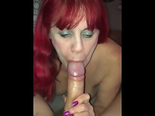 21 Yr Old College Guy Cumming Inside 51 Yr Old Red Headed Hooker's Mouth