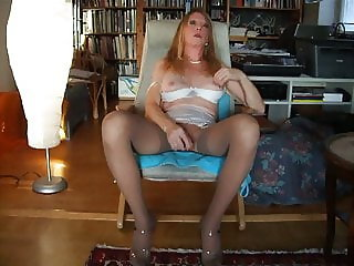 In nylons and orgasm