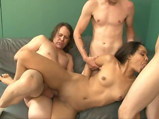 Sweaty Indian Girl Gangbangs 1 - Scene 1
