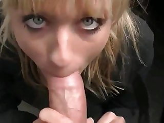 car washer girl sucks big cock and gets cumshot in mouth