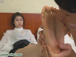 Korean college girl goddess foot femdom