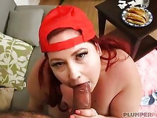 SSBBW Eliza Allure Gets Fed Hot Dogs and Dick By Trainer