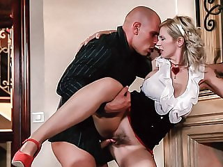 LETSDOEIT - Pinup Babe Gets Doggy Fucked Near The Fireplace