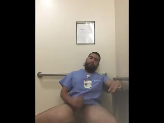 Latino Nurse Jerks Fat Cock In Hospital